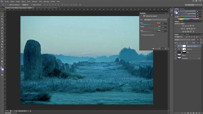 8 - balance des couleurs - tutoriel Photoshop, maitriser la nuit – Nicolas Houel