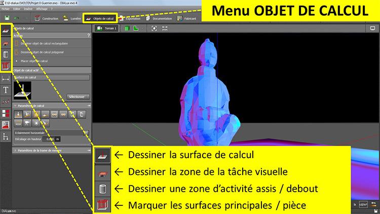 DIALux evo 4 - menu 4 objet de calcul - en francais - Vincent Laganier
