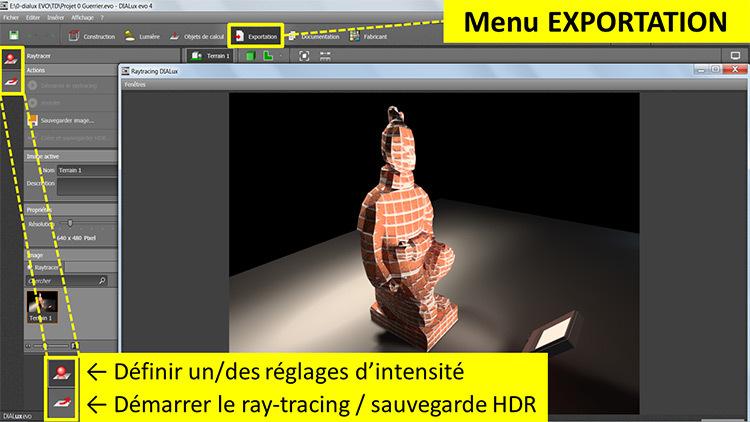 DIALux evo 4 - menu 5 exportation - en francais - Vincent Laganier