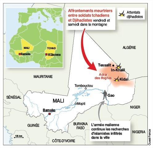 mapa acontecimientos de Malí