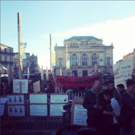Première Nuit Debout à Montpellier