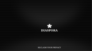 diaspora reclaim your privacy