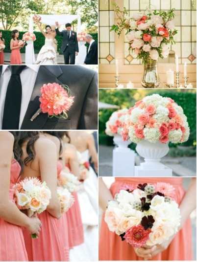 decoracion de bodas color salmon