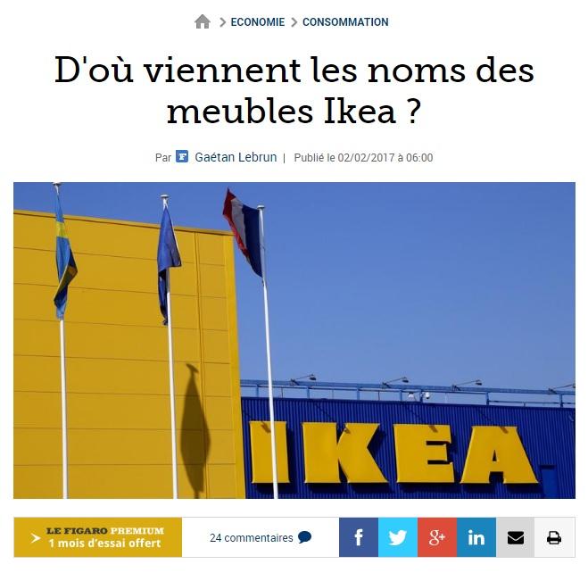 LU Do Viennent Les Noms Des Meubles Ikea