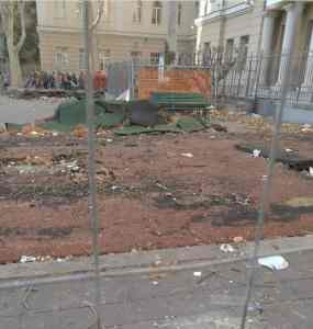 marassi piazza Galileo Ferraris cantiere