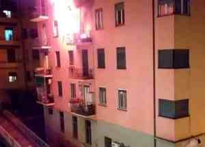 incendio via Sapeto Borgoratti