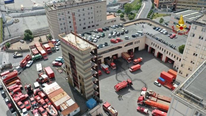 vigili fuoco sede centrale Genova
