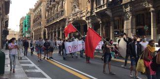manifestazione scuola via XX settembre genova