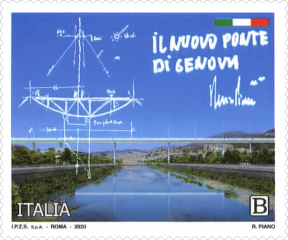 francobollo ponte di Genova