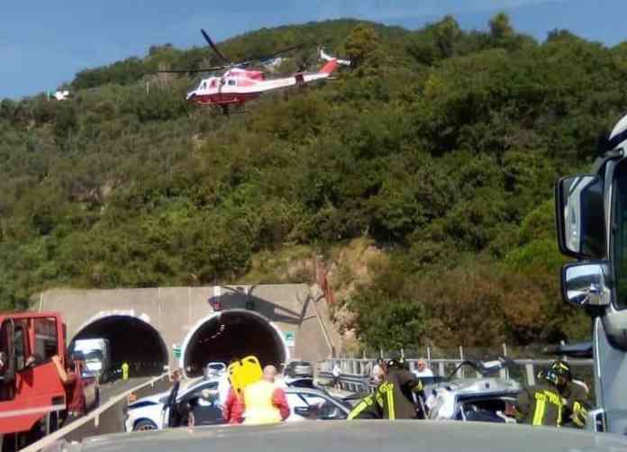 incidente A12 Chiavari Rapallo