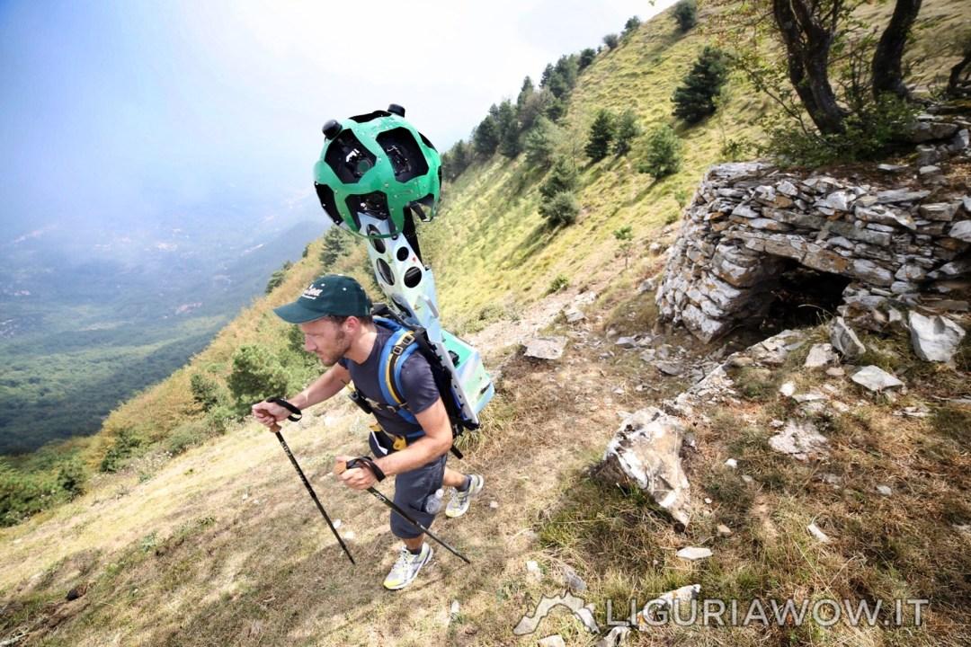 Casella di Pizzo Montin e Federico Nasi col Google Trekker