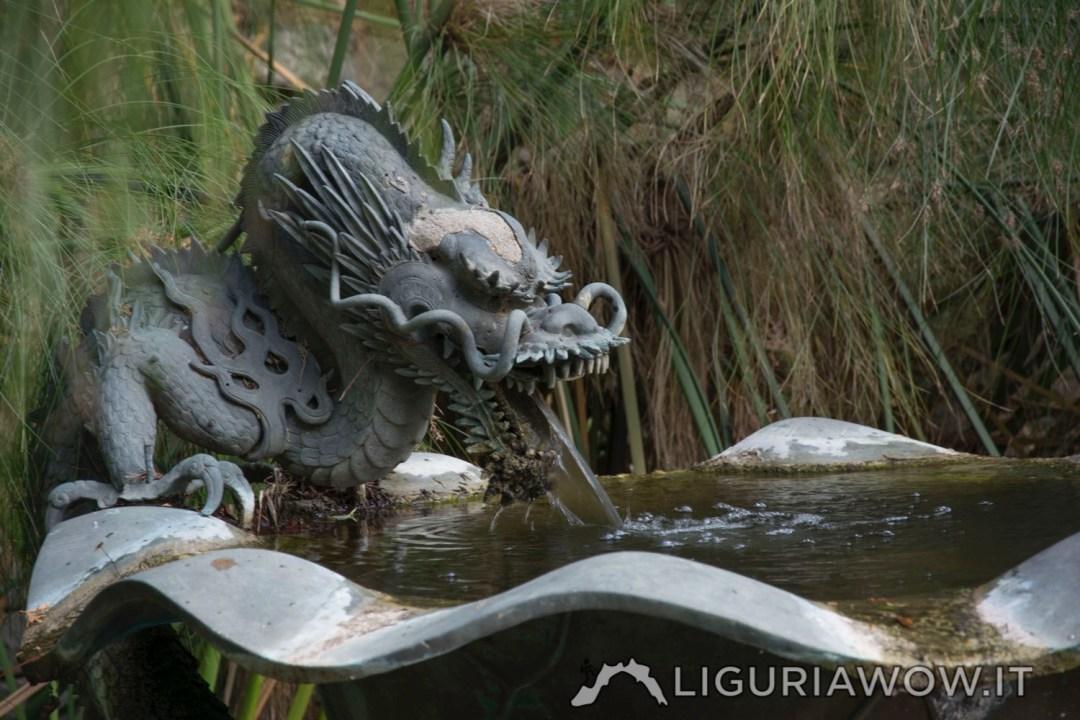 Fontana del Drago ai Giardini Botanici Hanbury