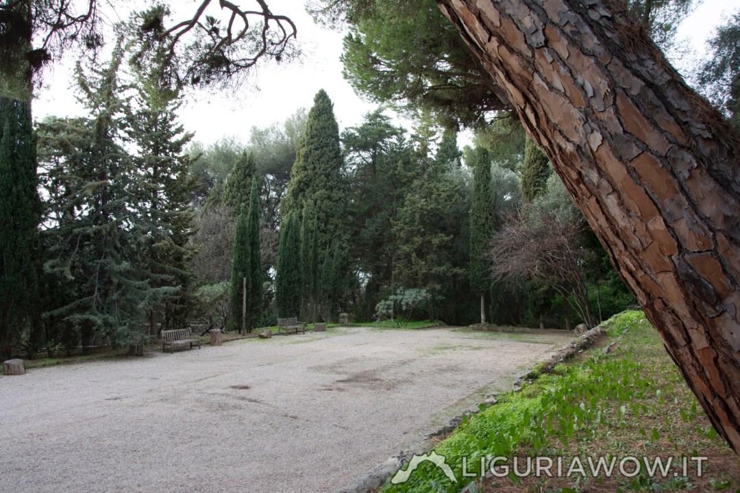 il primo campo da tennis privato d'Italia ai Giardini Botanici Hanbury