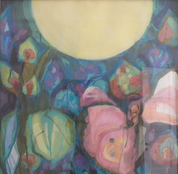 Aurinkoa. Marja Jalosen akvarelli.