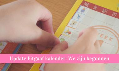 fitgaaf kalender kleuter stickers plakken