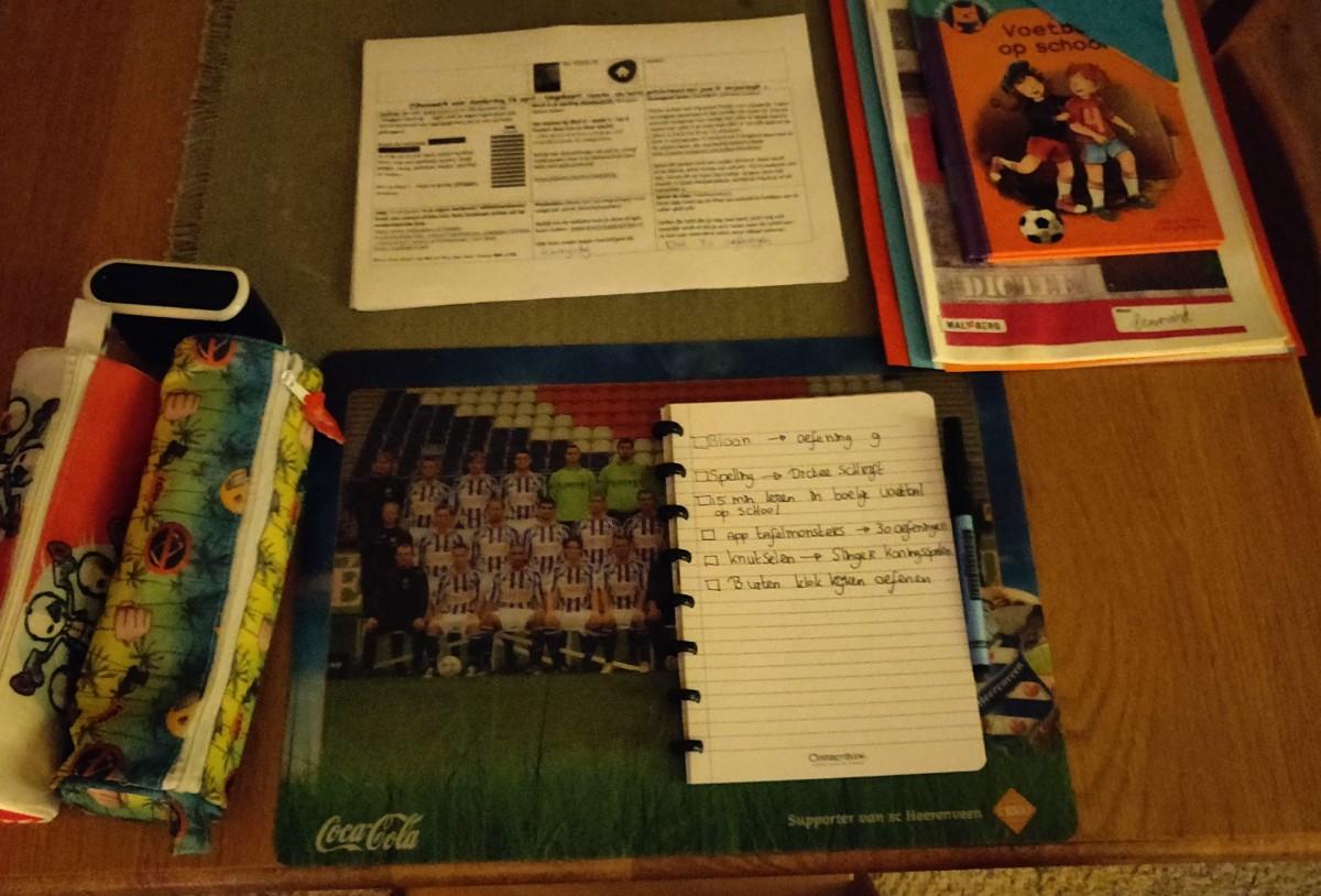 Correctbook bij autisme huiswerk