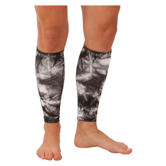 Compression Leg Sleeves - Tie Dye Titanium