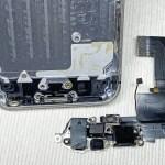 iPhone SE(初代)のLightningコネクタ・イヤホンジャックケーブルを外す方法
