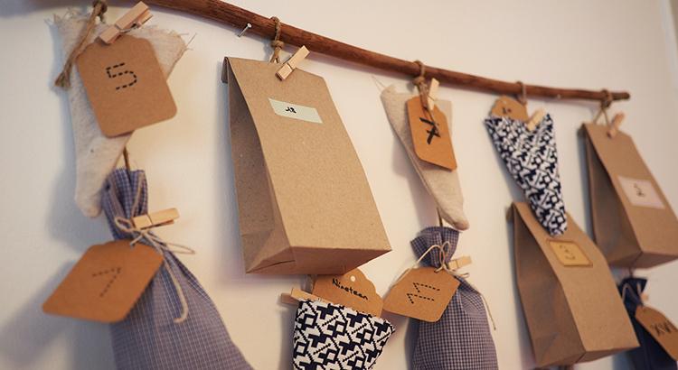 DIY calendrier de l'Avent en tissu
