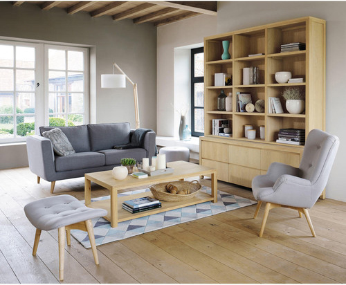 D co du salon mobilier industriel et scandinave - Salon cocooning beige ...