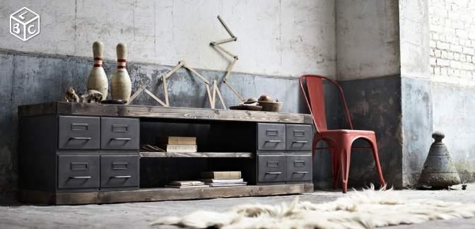 Dco Du Salon Mobilier Industriel Et Scandinave