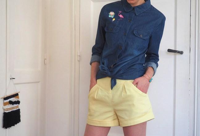 idees pour customiser chemise en jean