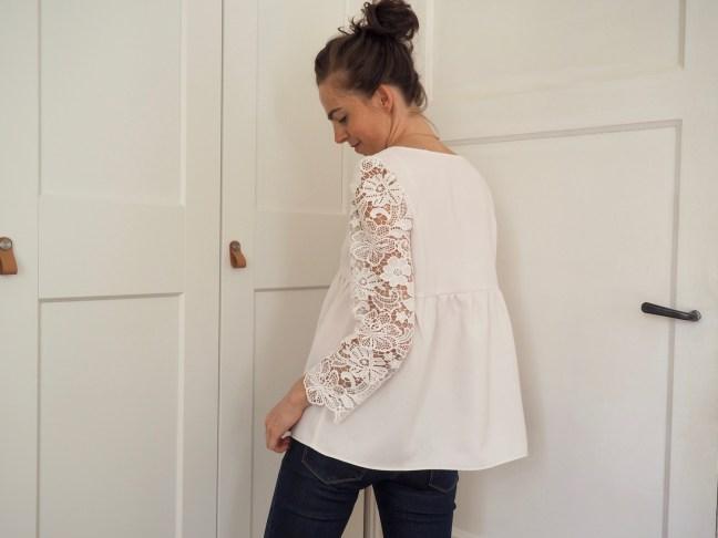blouse dentelle couture