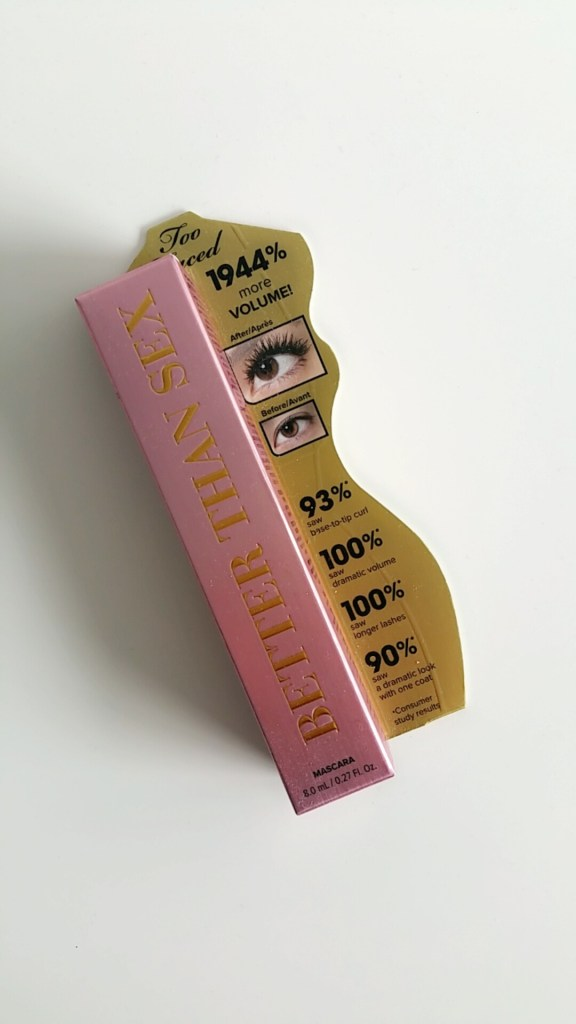 Emballage mascara Better than sex de Too Faced - Like a princess