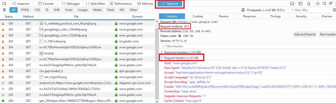 Linux Web Server Request Header