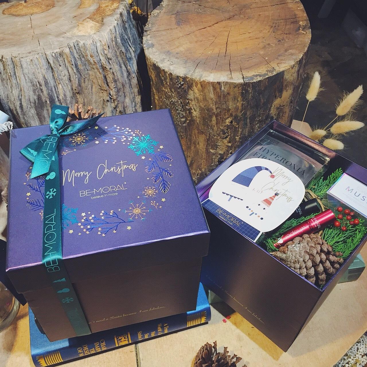 聖誕乾燥花盒設計