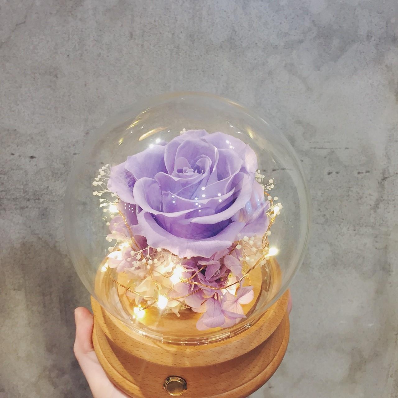 永生玫瑰花藍芽音響紫色