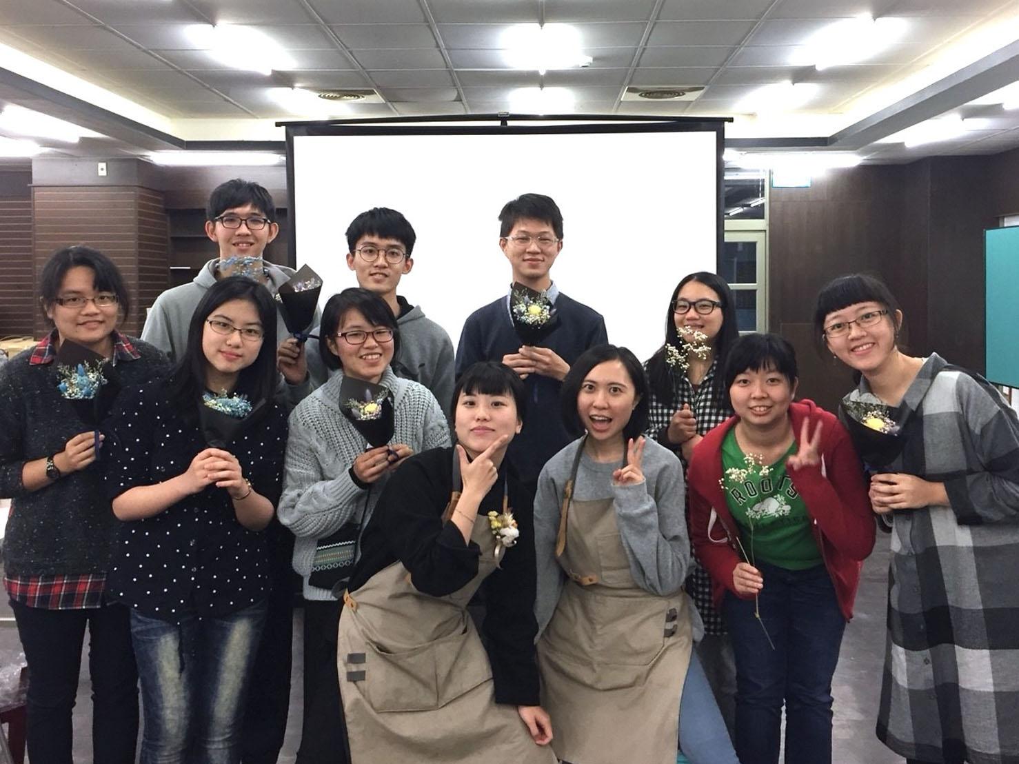 台北大學花藝課程教學,乾燥花教學
