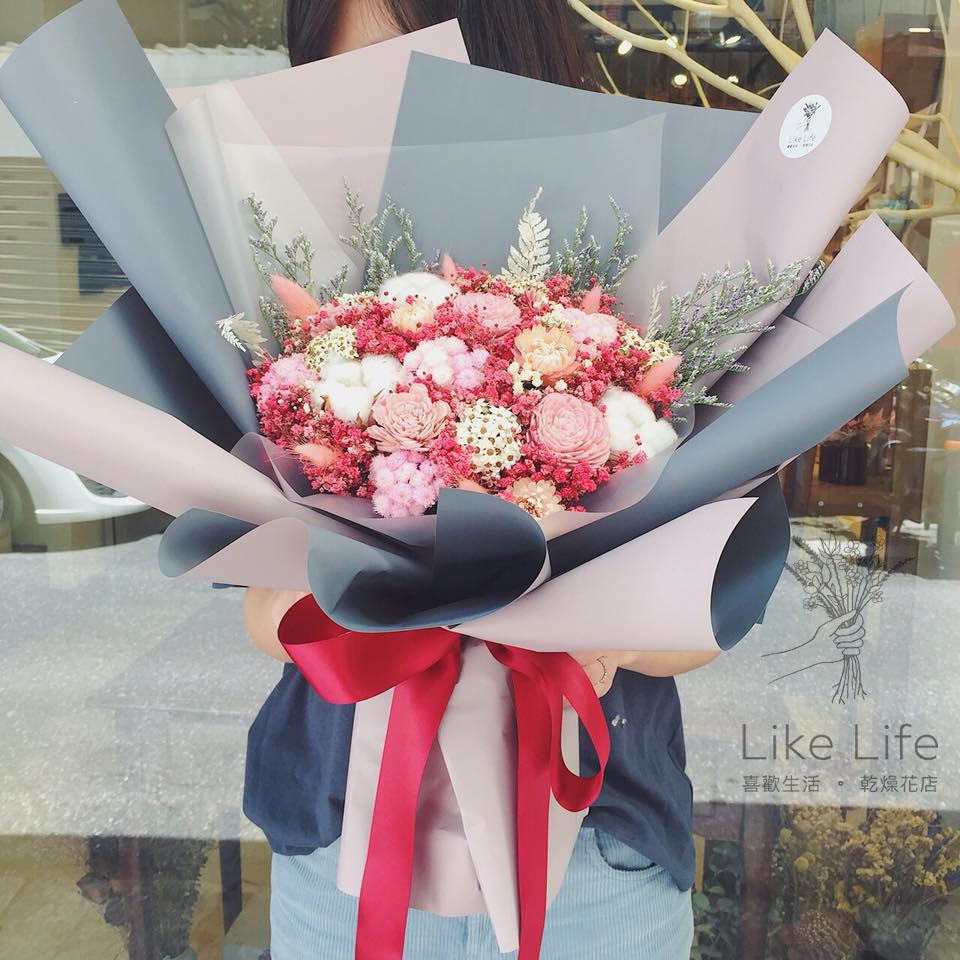 巨型乾燥花束紅色封面