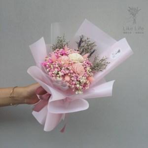 乾燥花束粉紅色,粉色乾燥花束推薦-台北喜歡生活乾燥花店