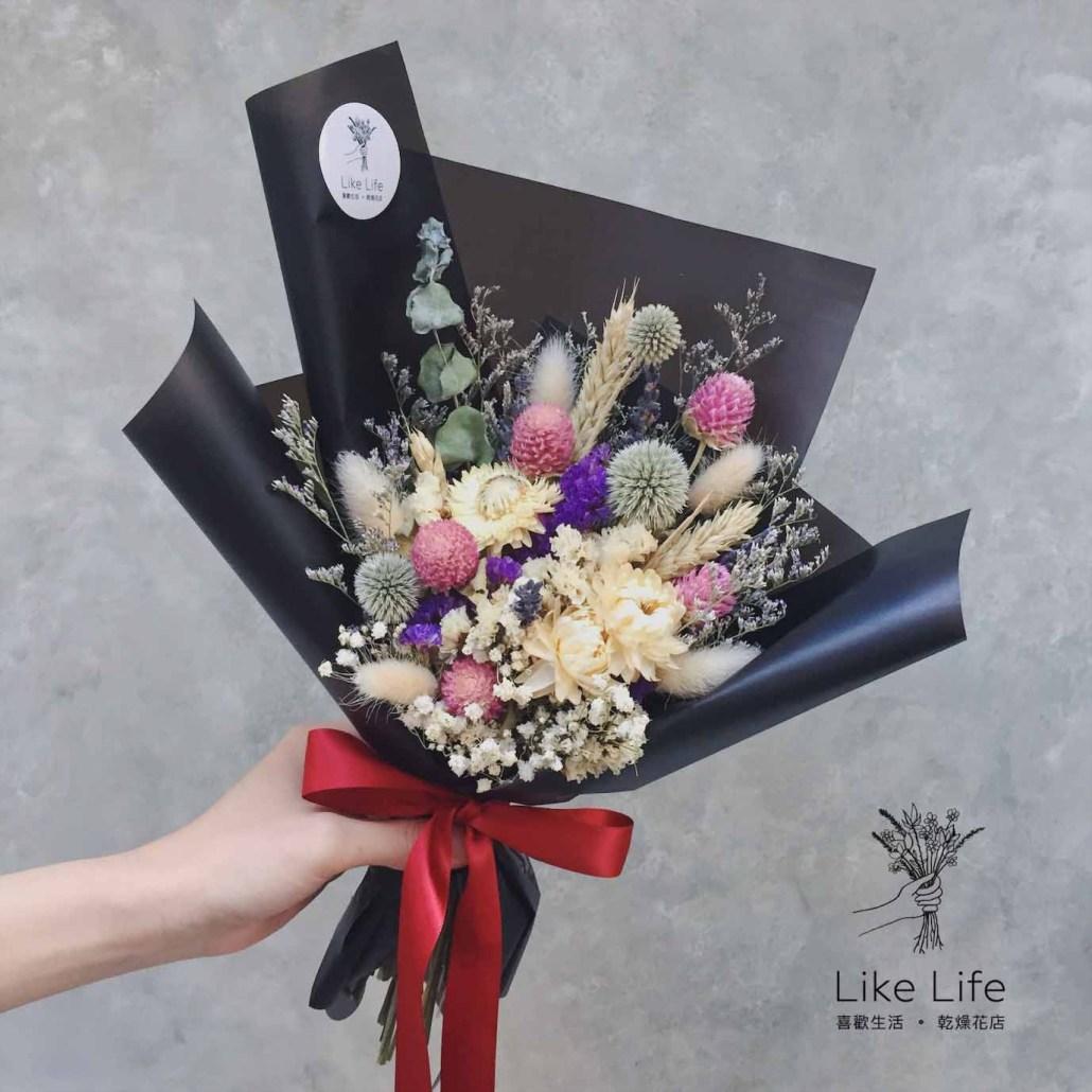 乾燥花束包裝教學,韓式乾燥花束包裝教學