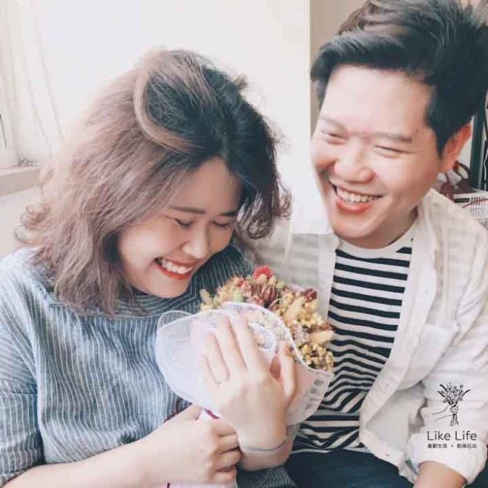求婚花束台北,台北求婚花束推薦,喜歡生活乾燥花店求婚推薦