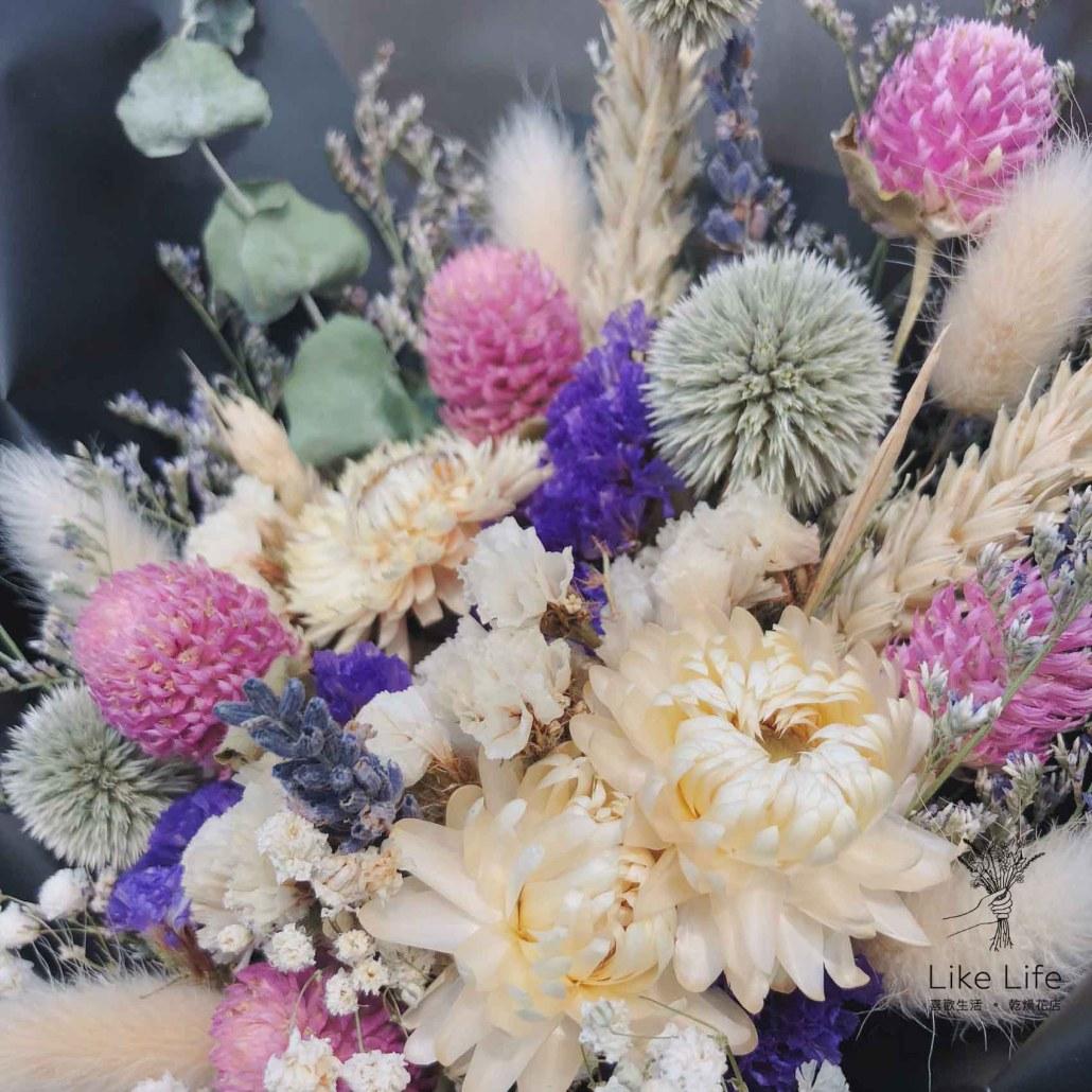 乾燥花束特寫,台北乾燥花店乾燥花課程推薦