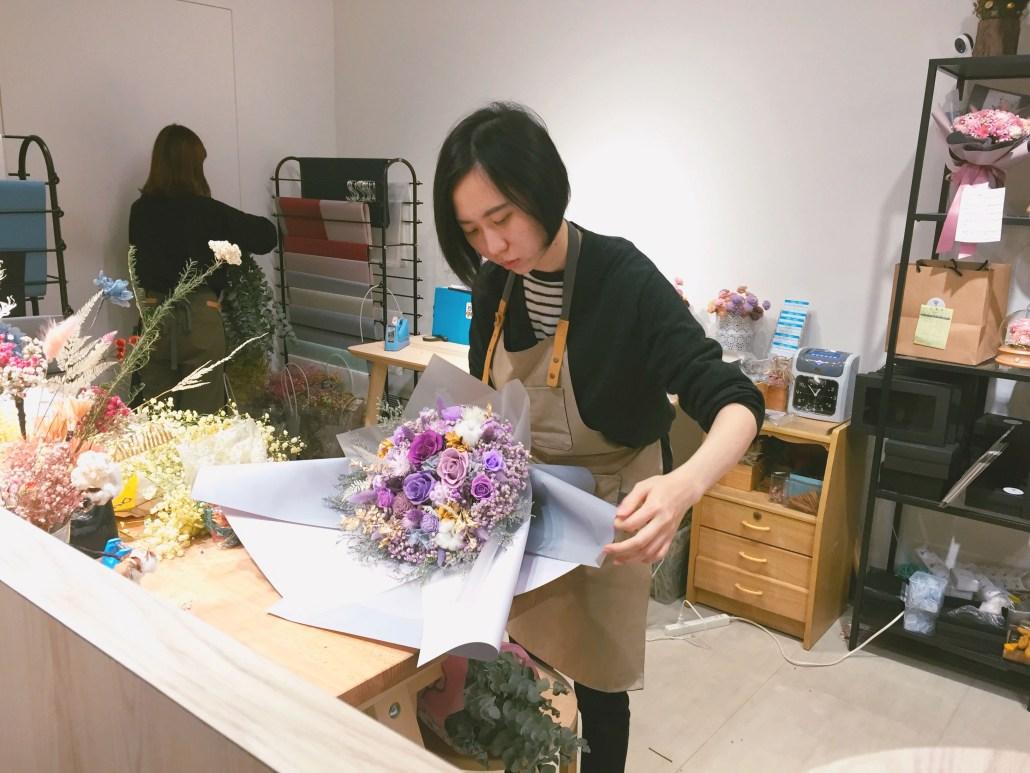 喜歡生活乾燥花店 花束包裝