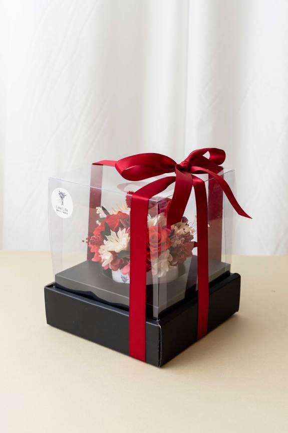 永生花盆栽中型包裝設計,永生花盆栽推薦台北