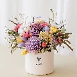 乾燥花盆栽紫色首圖,乾燥花盆栽推薦台北