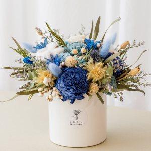 乾燥花盆栽藍色首圖,乾燥花盆栽推薦台北