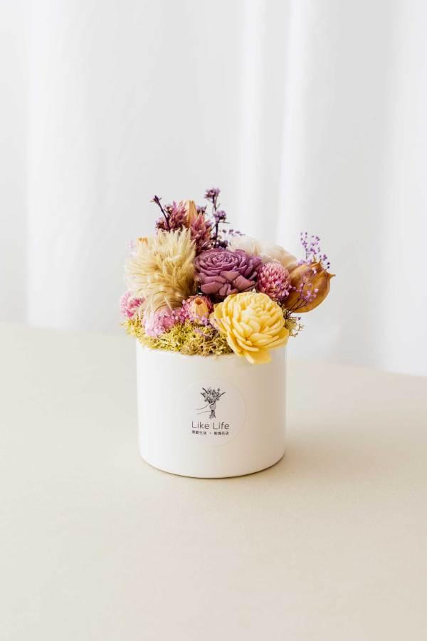乾燥花盆栽中型紫色首圖,乾燥花盆栽推薦台北