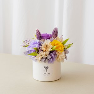 永生花盆栽中型紫色首圖,永生花盆栽推薦台北