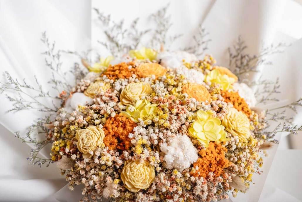 巨大乾燥花束,求婚花束推薦台北-黃色特寫