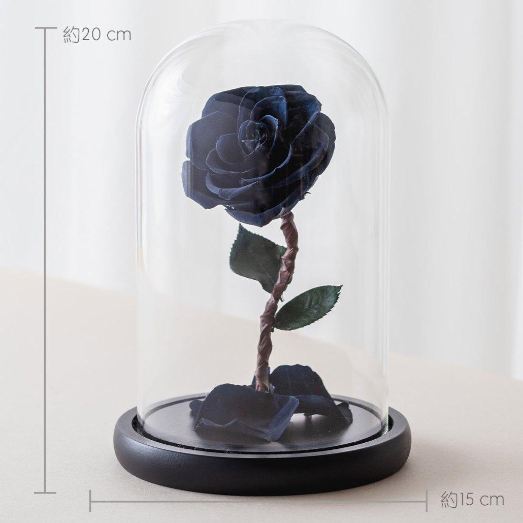 永生花玫瑰,黑色永生花玫瑰公分
