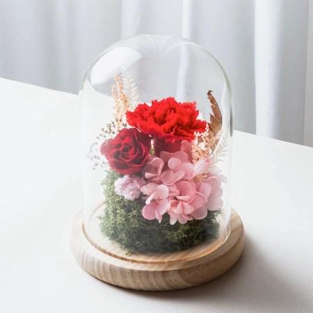 母親節紅色永生花康乃馨封面-台北喜歡生活乾燥花店