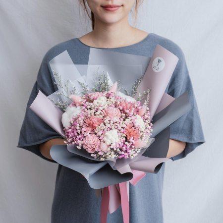 求婚乾燥花束推薦,台北求婚玫瑰乾燥花束粉色,喜歡生活乾燥花店