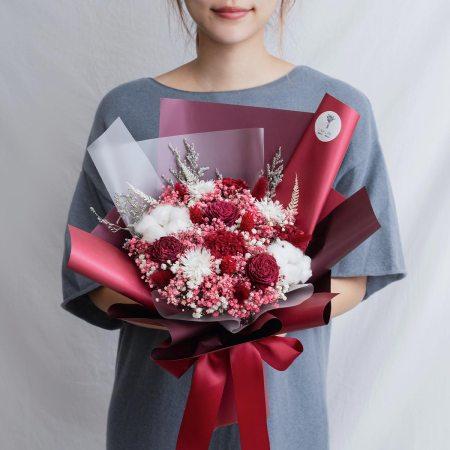 求婚乾燥花束推薦,台北求婚玫瑰乾燥花束紅色,喜歡生活乾燥花店