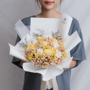 求婚乾燥花束推薦,台北求婚玫瑰乾燥花束黃色,喜歡生活乾燥花店