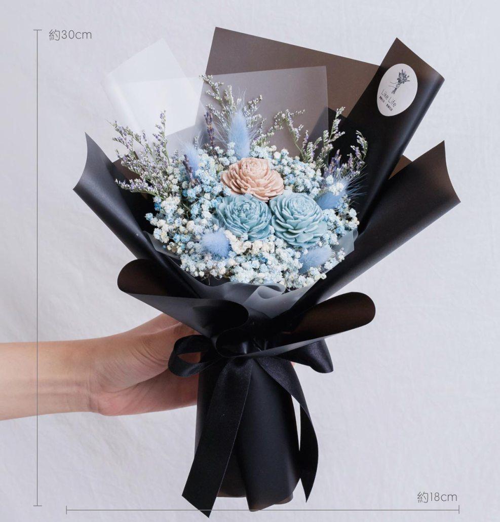 黑色玫瑰乾燥花束,玫瑰乾燥花束黑色公分,台北喜歡生活乾燥花店